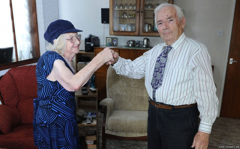 The pair are one of Britain's longest married couples, having been married since 1944