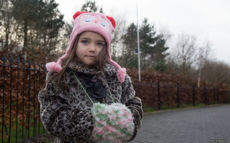 Niamh Powell, four, from Telford, Shrops, suffers from Cold Urticaria (CU)
