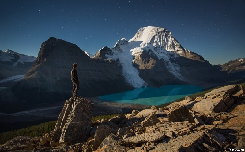 Paul Zizka scales freezing mountain tops to snap himself
