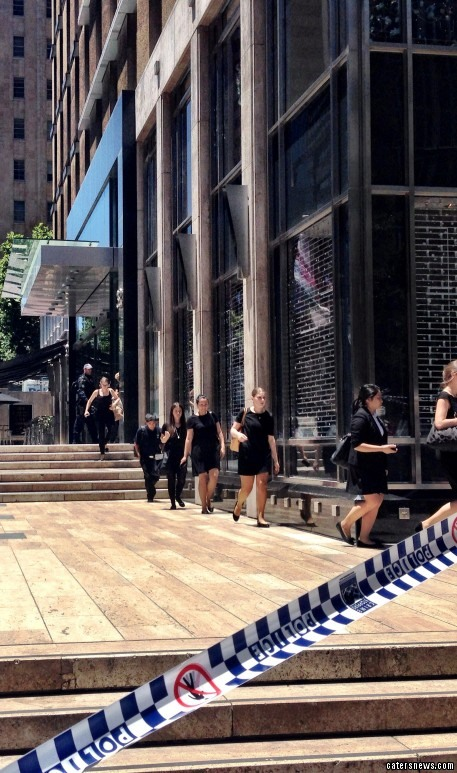 Five hostages have escaped from the Lindt cafe