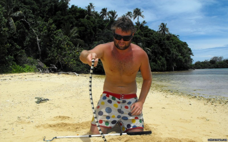 Forrest Galante encountered the world's most deadliest snake while on holiday in Indonesia