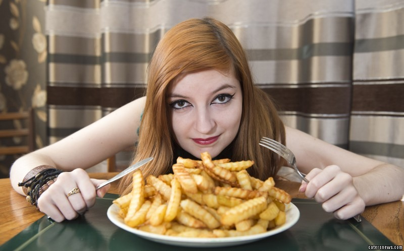Jennifer Radigan, 17, suffers from a food phobia which means she can only eat chips