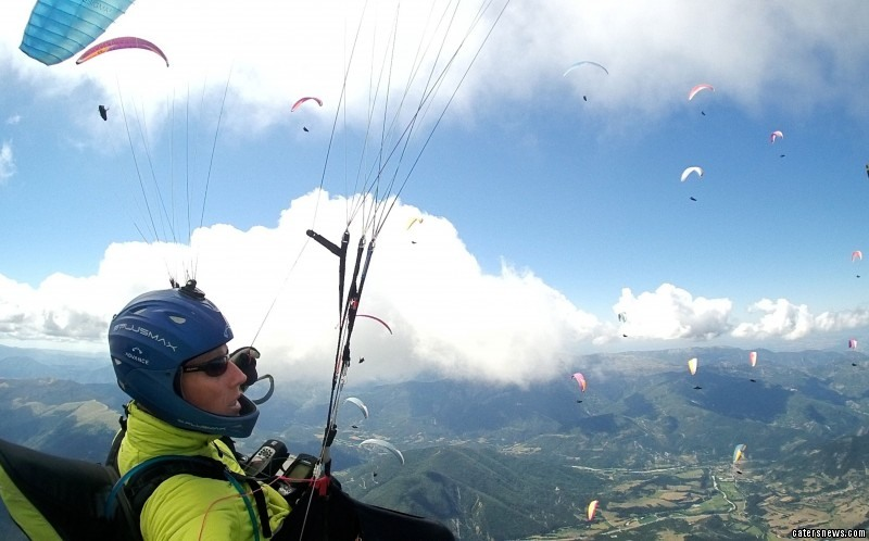 """He said: """"There are so many aspects of the paragliding you just wouldn't get from any other sport."""""""