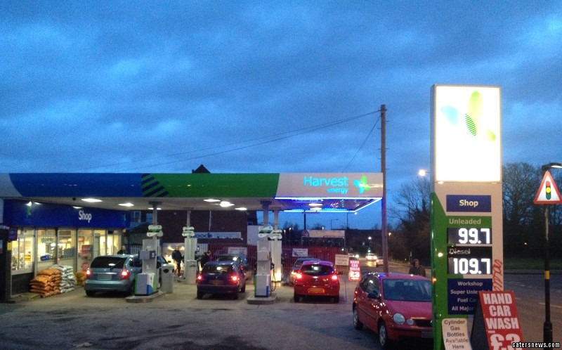 Petrol prices at The Harvest forecourt in the Maypole area of Birmingham, West Mids are thought to be the cheapest in the country