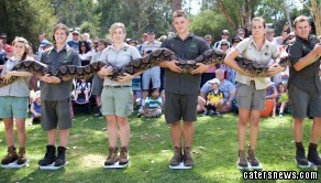 The python, named Atomic Betty, used to  tip the SCALES at a mammoth 140KG