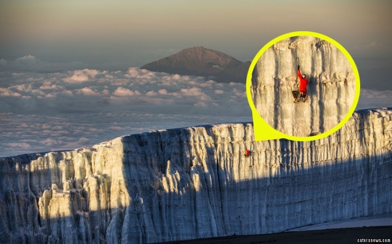 Will Gadd  has scaled some of the last remaining ice on Africa's highest mountain