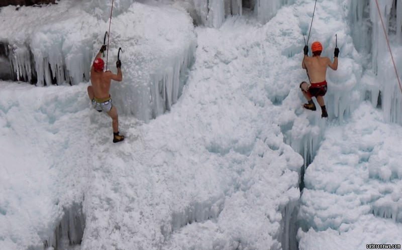 Racing up frozen waterfalls is the latest extreme ice sport