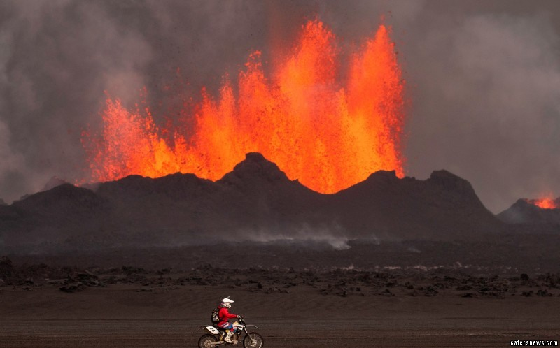 """Tomas said: """"I got very close the volcano as it erupted only a few days earlier."""""""