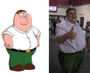 Robert Franzese is a dead ringer for Family Guy cartoon character Peter Griffin