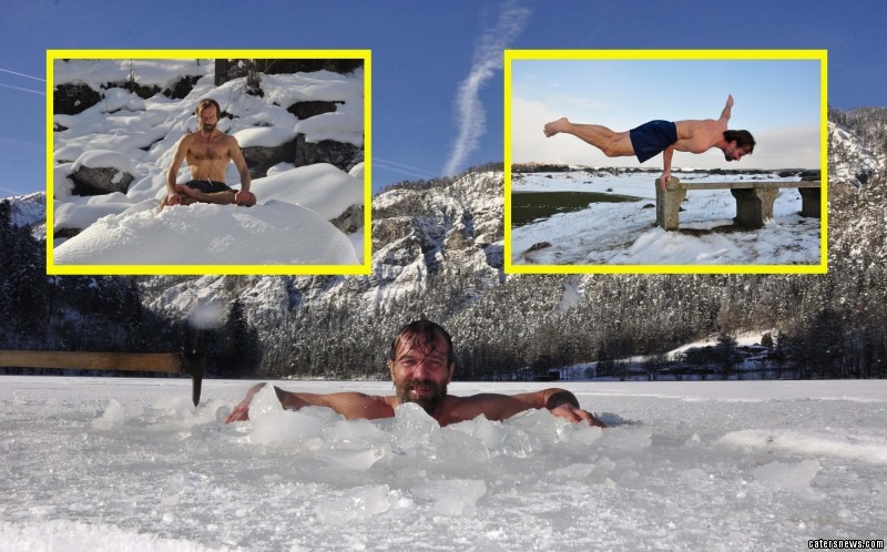 Daredevil Wim Hof showed he can keep a COOL head after scrambling to the top of Mount Kilimanjaro in record time.
