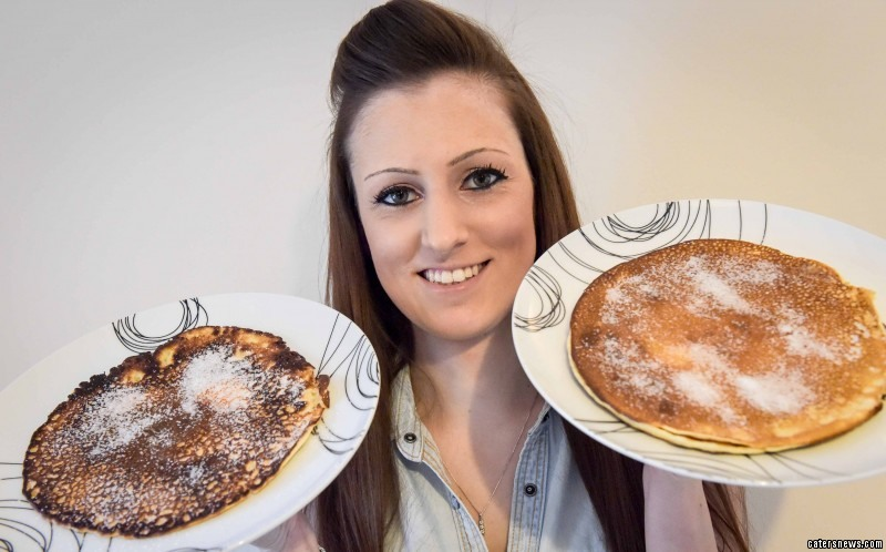 The 26-year-old  celebrates pancake day every day of the year after her condition left her terrified of other foods