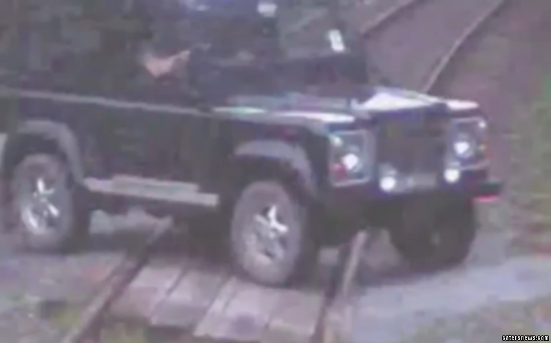 Cameras captured the vehicle going over the level crossing near Llandeilo, in west Wales