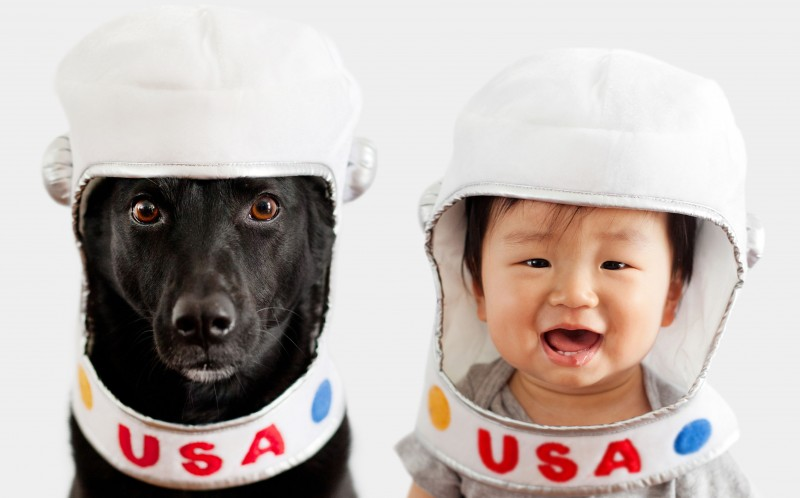 Dog and Baby Dress Up