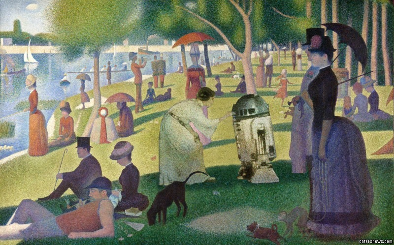 Star Wars as seen through the works of Monet, Munch, Rembrandt and Van Gogh