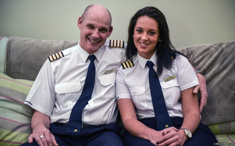 Peter made an announcement to passengers that the flight made it a special day for him as he was flying with his daughter