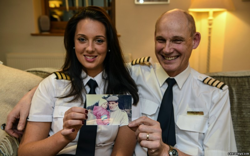 """Laura said: """"It's a dream come true to be able to fly with my Dad – even if he was still checking up on me!"""""""