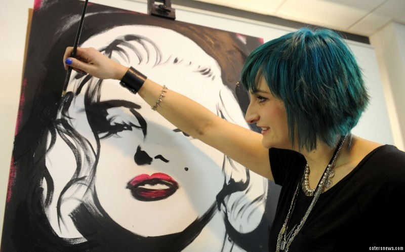 Talented artist Jen Allen paints portraits of celebrity icons in under three minutes