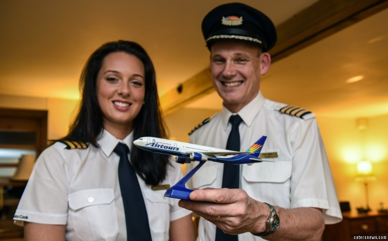The pair took to the skies together for the first time to take passengers from Birmingham to Tenerife