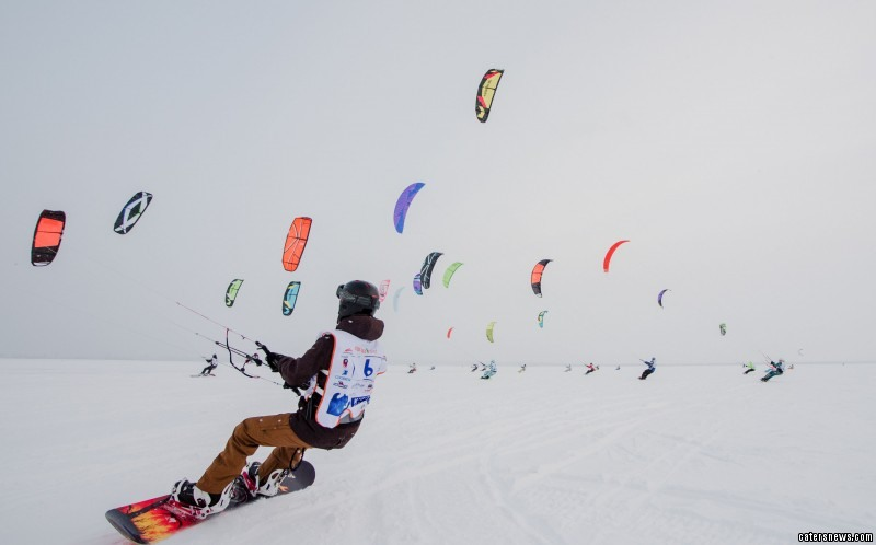 Snow kiters go for a N-ice Ride