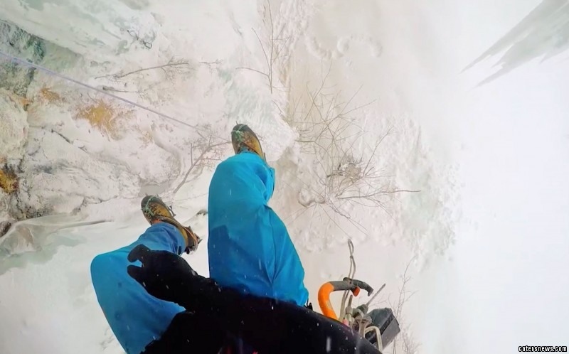 Pierre Chauffour was scaling up a sheer mountain face in the French Alps when tons of snow fell overhead