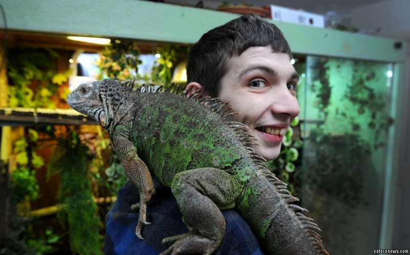 His last relationship ended in 2006 when Shaun's teenage crush couldn't cope with his reptiles any longer