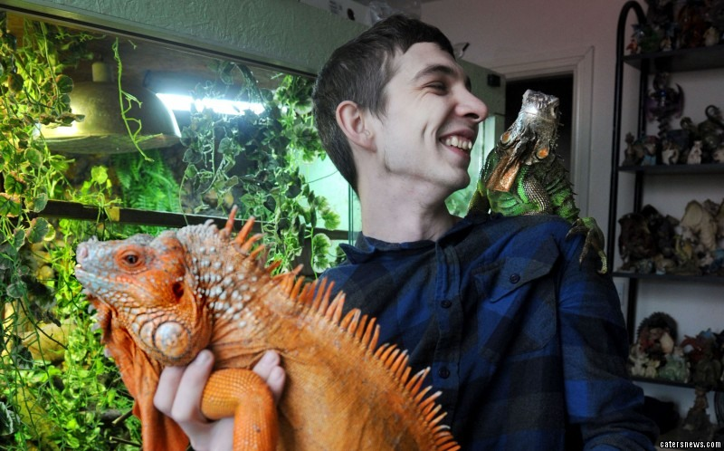Shaun Dixon, 24, loves reptiles so much he hasn't had a girlfriend for nearly ten years