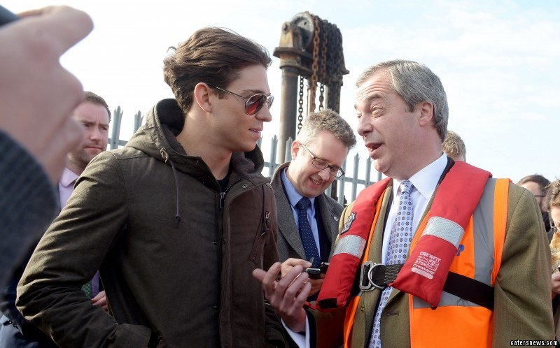 "The UKIP leader described the TV star as an ""icon of youth"""