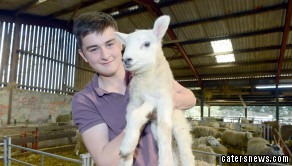 Jake the lamb was born  with five legs