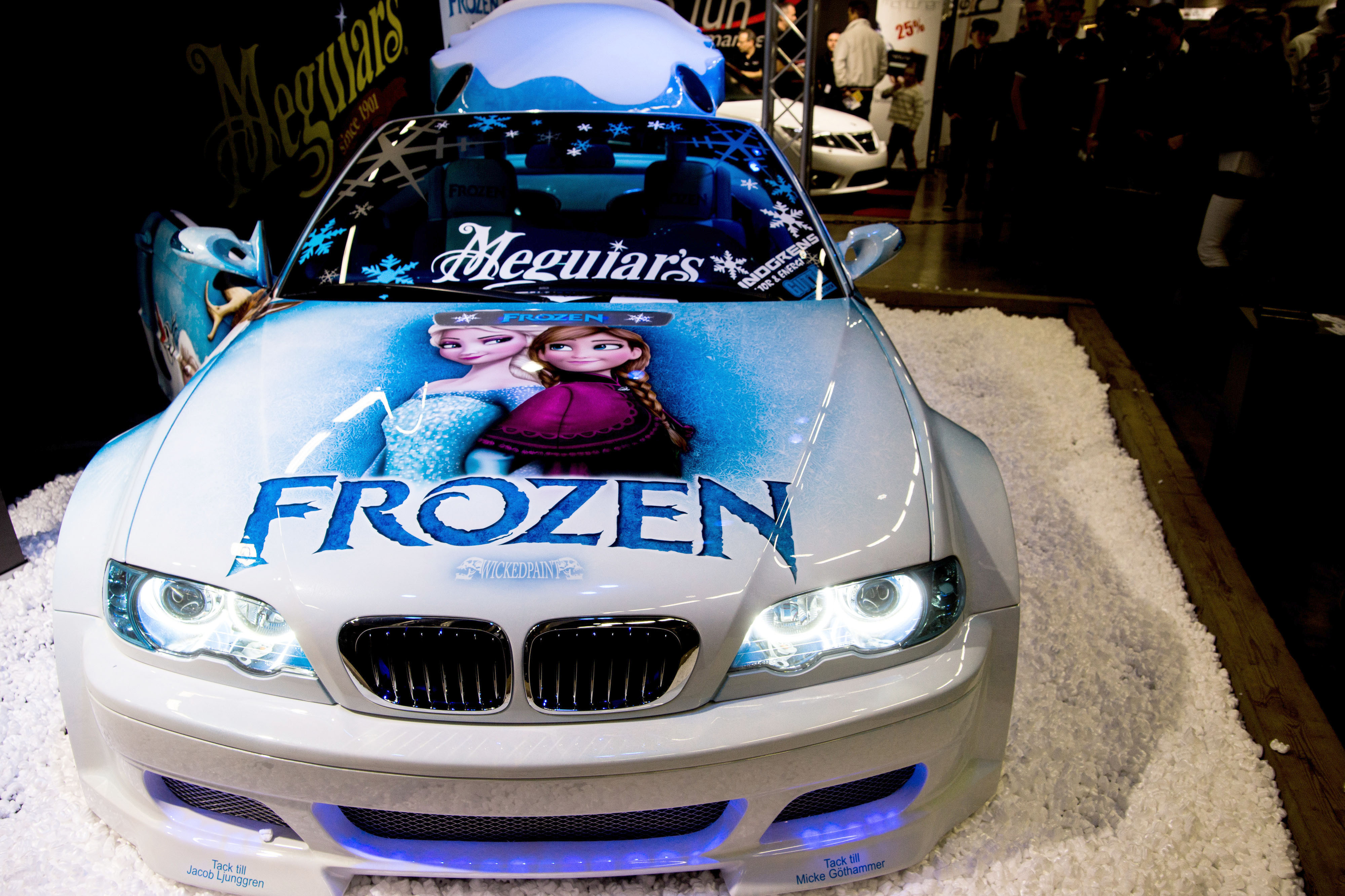 Dynamic Duo Add A Touch Of Frost To Create Frozen Themed Car