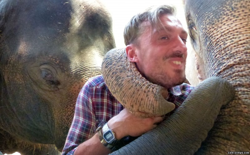This tourist hugged it out - with a three tonne elephant