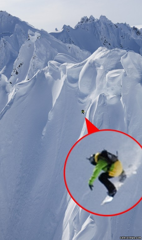 These daredevil skiers travel to the world's most vertical slopes for their steep thrills