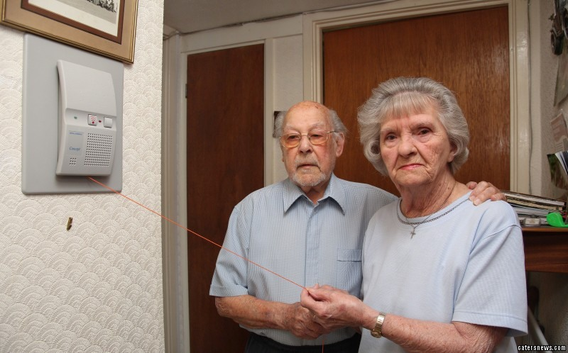Roger and Barbara Turner are being forced to pay to have access to an emergency cord