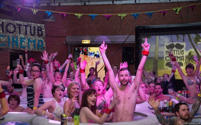 Birmingham is the latest city to host the hot tub cinema
