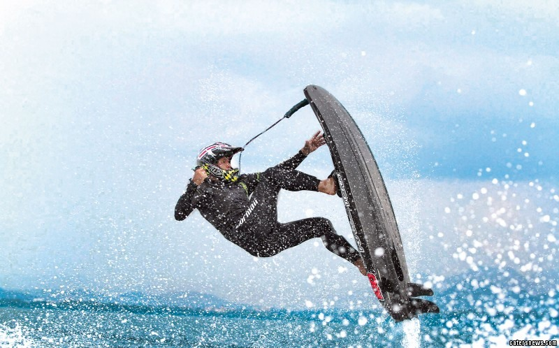 Jet surfing is the new craze that pushes the boundaries of water sports