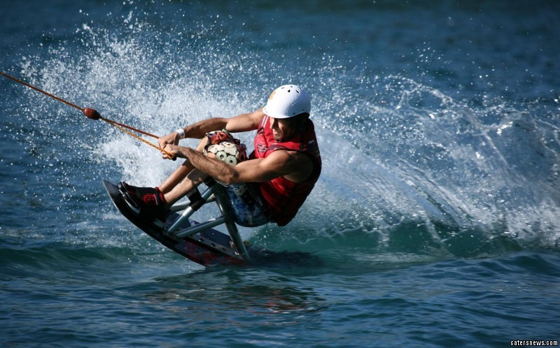 Daredevil Frenchman Jerome Elbrycht has defied his disability to become a champion at his sport