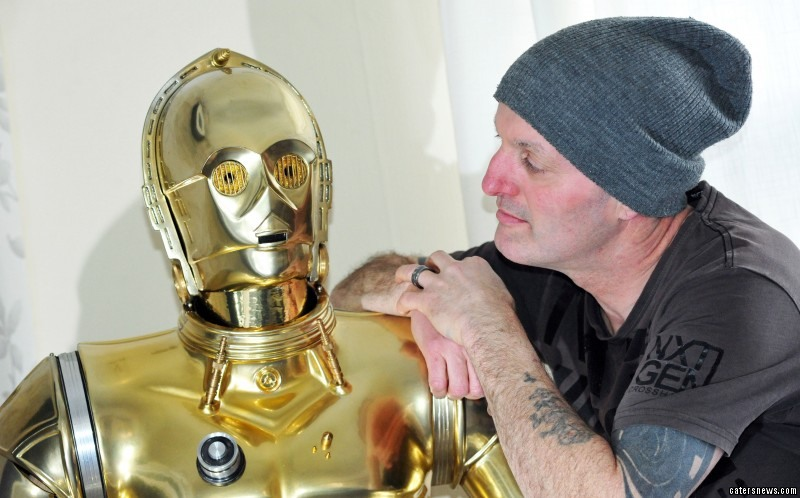 Paul Wadley has spent two years  building a C-3PO costume