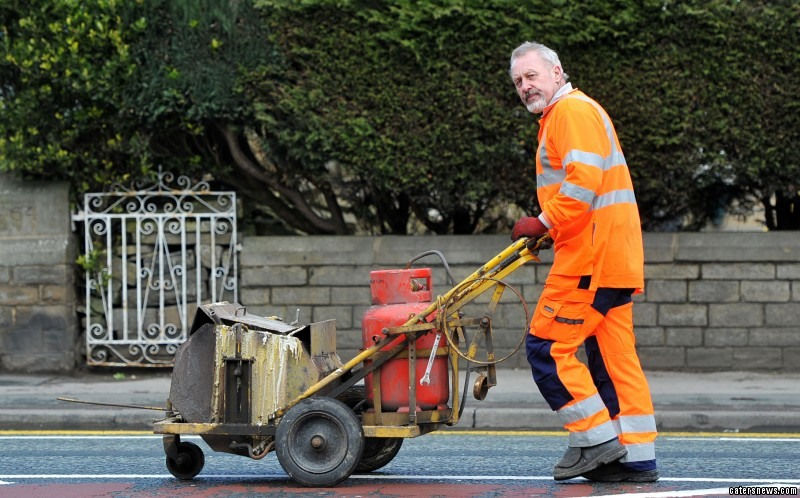 In his 29 years of service, the 61-year-old estimates he paints at least 11miles of lines a day