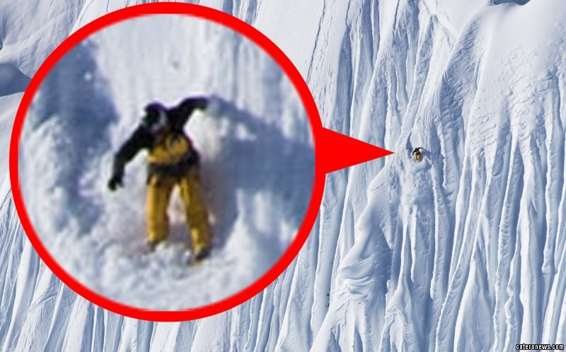 Top skiers such as Jeremy Jones carefully edge their way down the most stomach-churning drops on the planet
