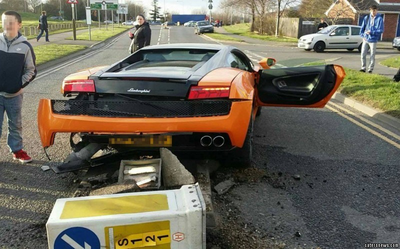 Driver Laughs After Crashing Lamborghini Close To School