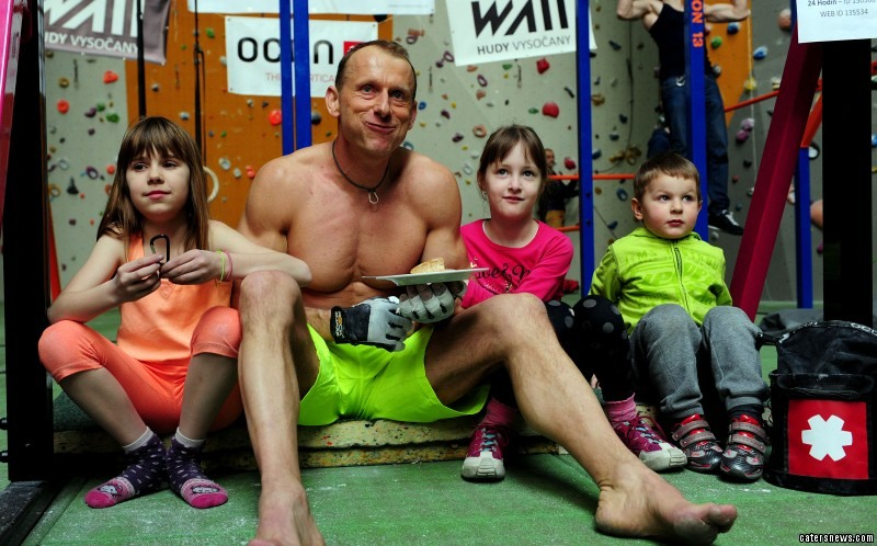 The 41-year-old is a fitness and climbing instructor