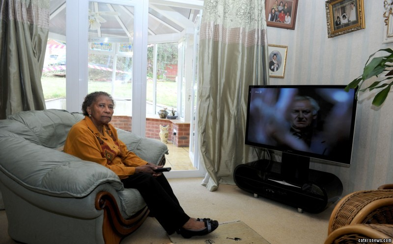 Vera Lampart escaped what could have been a tragic accident when a car smashed into her conservatory