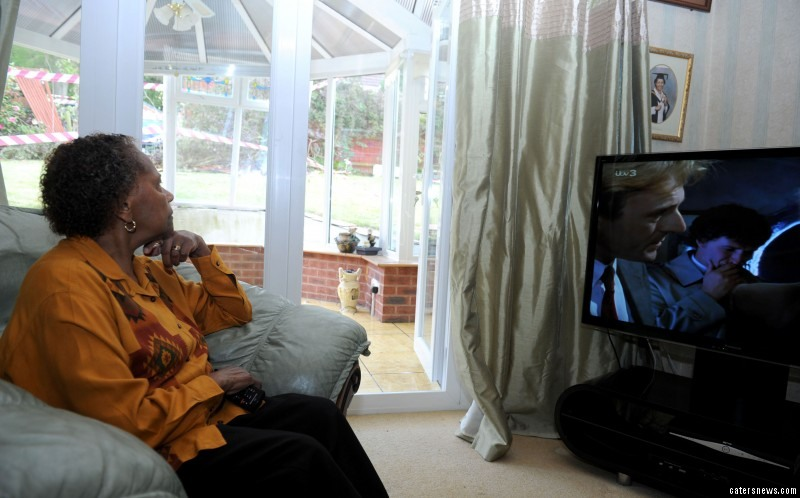 Vera was sat in her conservatory relaxing  before she left the room to watch Eastenders in her lounge