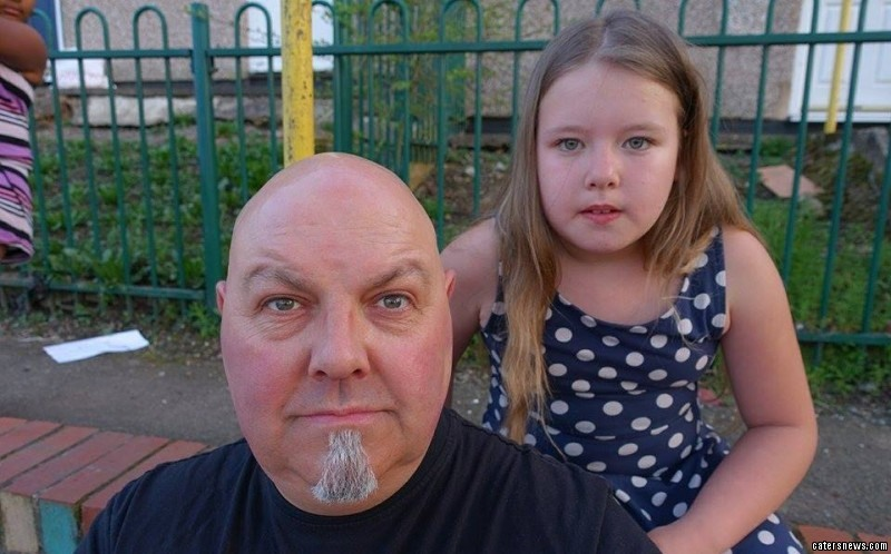 Martin Johnson, 46 witnessed the carnage unfold while walking his granddaughter, Charly Pennett, aged nine, home from school