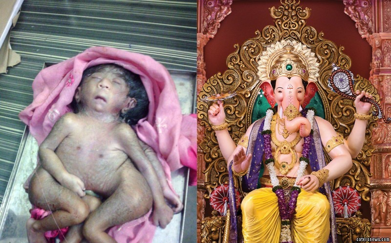 The boy has attracted hundreds of worshippers who believe he is Hindu deity Ganesha