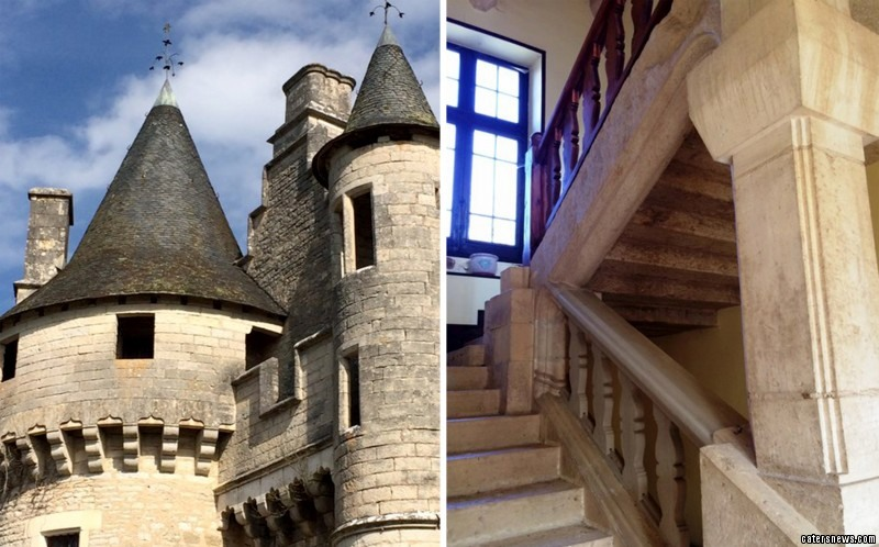 The property is a 13th century castle in the Dordogne, France