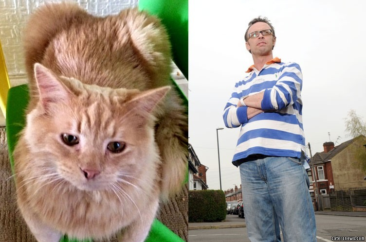 Tony Hunt says a neighbour saw his five-year-old daughter's feline friend Harry run down by the patrol car