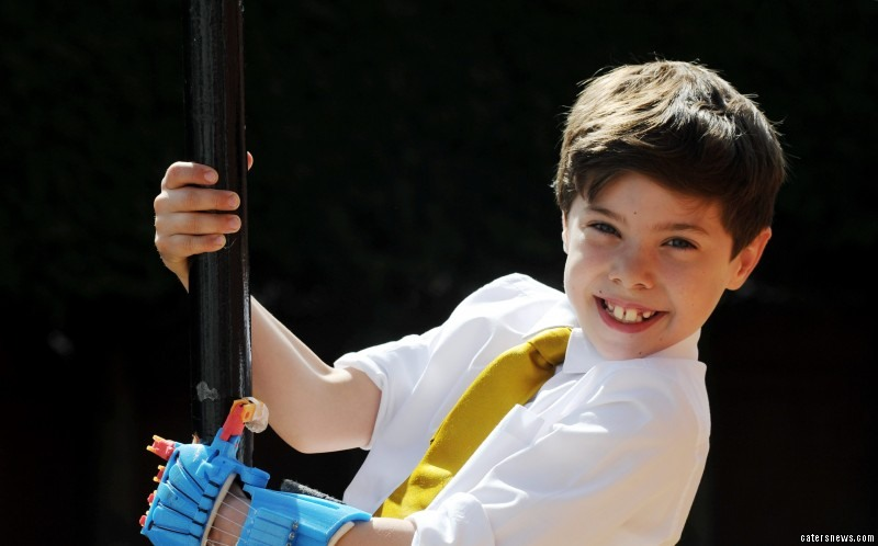 The boy was left with no fingers on his left hand and a useless thumb after his mum Hayley suffered with amniotic band syndrome