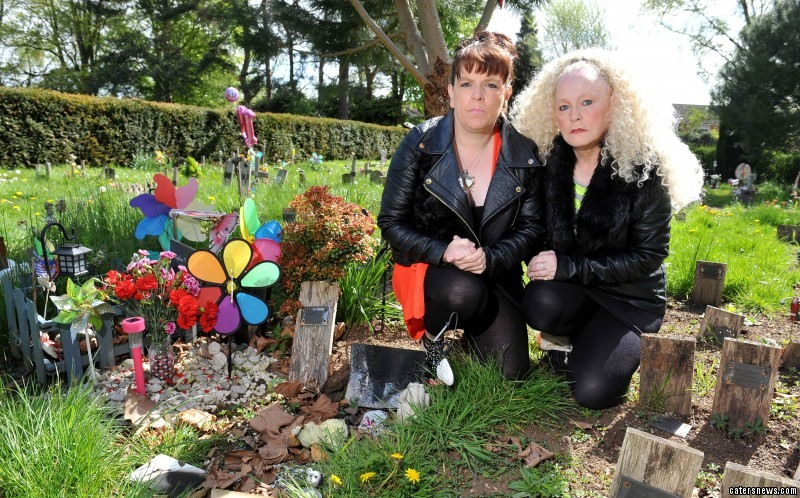 Susan Chi has been left devastated after her baby daughter's grave was desecrated