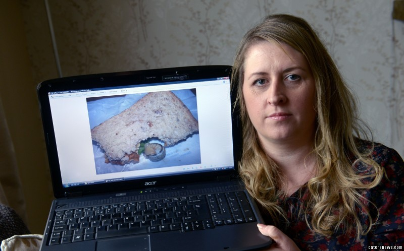Hannah Scott was stunned to find a live snail as she was tucking into a sandwich from a Tesco