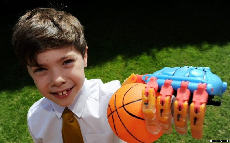 """Grateful dad Mark, from Thurmaston, Leics, said: """"The new hand has changed Millergan's life."""""""
